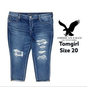 American Eagle Tomgirl Button Fly Jeans Size 20